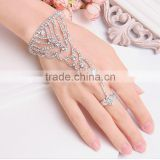 Wholesale India Styles MOQ 50pcs Crystal Bracelet Attached Ring