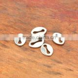 S863 For chain lock bracelet necklace mouth hole stainless steel spacer bead
