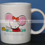 Professinal customize porcelain promotional gifts advertising mugs with decal-7102 stonewaree