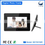 "2015 hot seller 7"" digital photo frame with factory price, high quality, mass production"