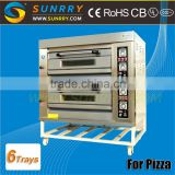 Price of Industrial Pizza Oven Front Stainless Steel Stainless Steel Pizza Oven 2 Deck 6 Trays Oem Pizza Oven (SY-DV26PG SUNRRY)                                                                         Quality Choice