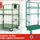 mobile tool trolleys logistics trolley/wire mesh heavy duty logistics trolley store carts