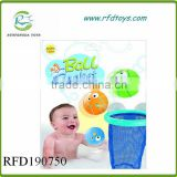 New product baby bath toys shooting spray water ball bath set