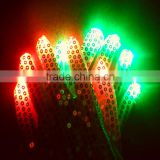 Paillette LED Gloves Colorful Flashing Light-emitting Halloween Gloves