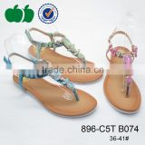 Low price ladies fashion flat shoes women sandals                                                                         Quality Choice