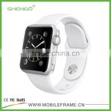 Shengo Newest Hot Selling Soft Silicone Watch Strap for Apple iWatch with Adapter 38 42mm