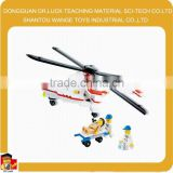 Wange creative education wholesale medical series rescue helicopter puzzle building blocks