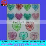 Color electrophoretic paint peach heart wire ball flat body cube woven mesh flower piece