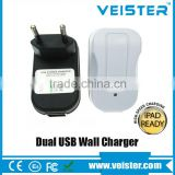 Veister AC110V-240V EU Wall Charger,5v 2.1a Dual USB travel wall For Mobile Phone, Mobile Phone, MP3 / MP4 Player