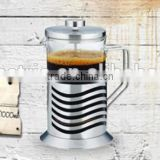 heat-resistant glass French press kettle coffee plunger