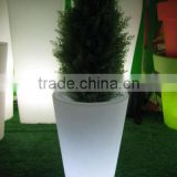 GR0770 Rotational Molded illuminated Plastic garden pot/flower pot/outdoor flower pot/outside garden planter