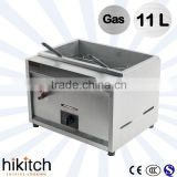 Commercial Restaurant kitchen equipment 11L table top gas chips deep fryer / lpg gas deep fryer machine