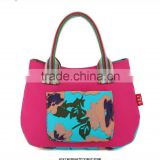 fashion stripe canvas handbags promotional canvas beach bag canvas tote bag with rope handle