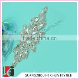 HC-149 Embroidered Crystal Bead Wedding Saree Appliques/Bridal Rhinestonea Appliques Trim                                                                         Quality Choice
