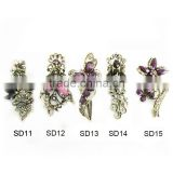 latest fashion alloy hair barrette,crystal ,diamond hair barrette