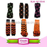 2016 Wholesale in stock USA apparel Halloween days pattern infant classic fashion baby legs ruffled leg warmers knitting pattern