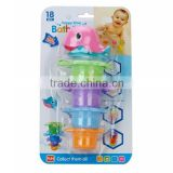 YX2804922 sea animal cup baby bath toy water game