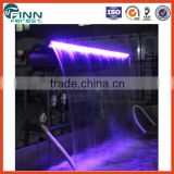 Pool fountains and waterfalls with LED light indoor artificial waterfall fountain