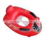 safety red inflatable baby boat with double handle for water leisure,inflatable baby swimming float