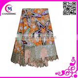 2016 African wax prints fabric/ wax lace /Hot sell good quality soft and comfortable wax lace fabric for women