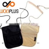 Luckiplus Inventory RFID Blocking Neck Wallet Travel Wallet Passport ID Card Cover Wholesale
