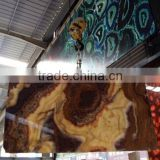 China Brown Onyx Marble Slab For Decoration