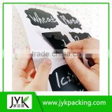 Custom decal sticker paper wholesale chalk board label sticker blackboard chalkboard wall sticker chalkboard labels