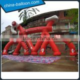 16m giant inflatable bicycle model/ red color inflatable bike replica model for advertising