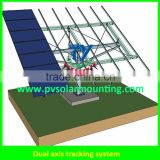 Dual axis solar tracking system with high quality
