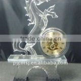 Glorious Crystal Horse Clock for Home Decoration