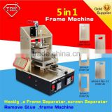 5in1 LCD Refurbish Machine =lcd digitizer separate + Frame Laminating Machine + Vacuum Screen Separator+ Glue Remover+Preheater