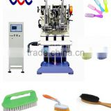 two heads high speed cleaning brush making machine for Flat Brush - Double Efficency.(GS402T)