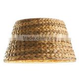 wholesale barrel shape new design straw weave lamp shade for table lamp floor lamp hot selling