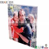 home decoration high thickness clear acrylic photo block wholesale
