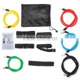 Vertical latex Resistance Band Set Gym Exercise Crossfit Stretch rubber Tube