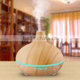 300ml Cool Mist Humidifier Ultrasonic Aroma Essential Oil Diffuser for Office Home Bedroom Living Room Study Yoga Spa - Wood