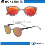Mixed metal acetate cat eye colored photochromic lenses sunglasses