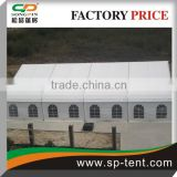 Big White Waterproof Fireproof PVC Fabric heavy duty 600 people seated curved party tent 25x35m