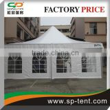 8m by 8m Pagoda tent with beautiful white lining and curtains decoration for wedding with floor system