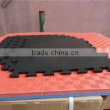 outdoor interlocking gym rubber floor mat for playroom ,rubber floor mat with EPDM granuals