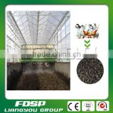 Cattle manure with straw fertilizer trough turning machine for compost vessel
