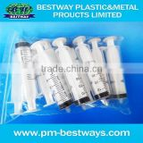 industrial use dispensing 1cc-30cc disposable plastic syringe with needle