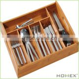 Reliable Bamboo Drawer Organizer with 5 Slots/Homex_BSCI