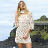Off White Kaftan Beachwear One Piece Outfit For Women