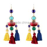 Bohemian jewelry painting colors drop earrings for women