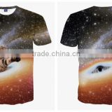 Ebay hot sale 3D Animal printed T Shirts for men Flash-cat Printed 3D T-Shirts short sleeve