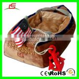High quality Plush boat pet dog bed With USA Flag