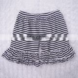 Knitted Denim Cotton Ruffle Striped Short Pants for Kids