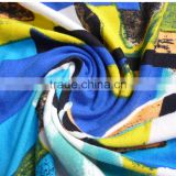 Joint color printed modal jersey knitted fabric