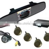 Super slim car Mirror/Rearview 3.5 inch TFT Display Parking Sensor with Camera